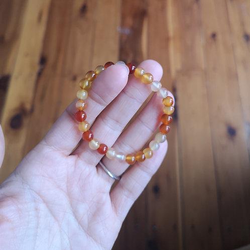 Agate Bracelet 5.5-6.5mm Beads
