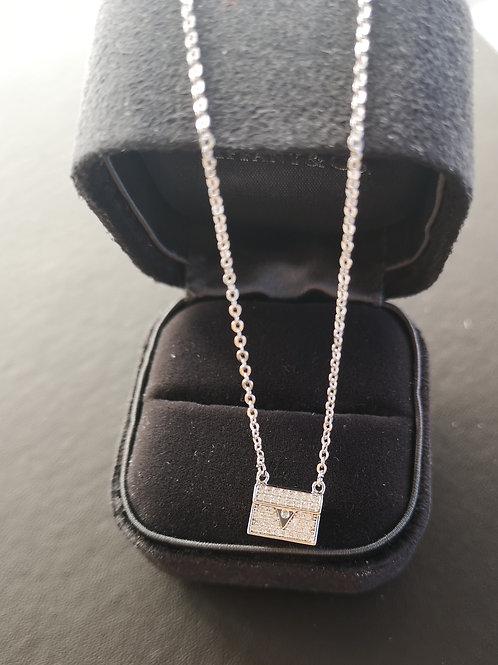 Cubic zirconia Bag Pendant Fashion Necklace
