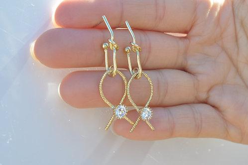925 post Gold Plated fashion lady earring