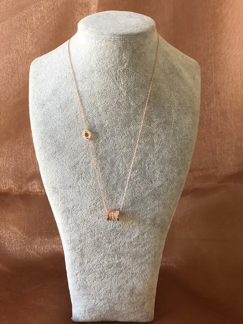 FASHION ROSE GOLD  PLATED LONG NECKLACE