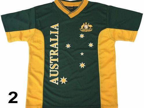 Adult Sports Soccer Football Rugby Jersey Top Adult T-Shirt Australia So