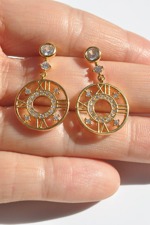 Gold Plated 925 post fashion lady earring