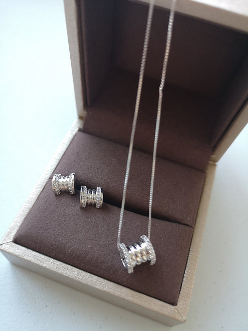 925 Sterling Silver Plated New design Fashion necklace Gift Set