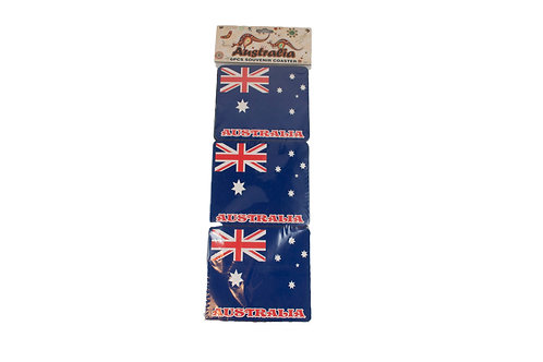 Australia Day Foam Drink Coasters 6pcs