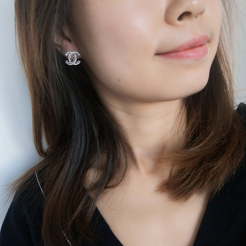 925 post fashion lady earring