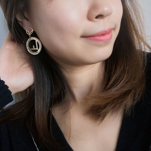 F Design 925 Sterling Silver Post fashion lady earring