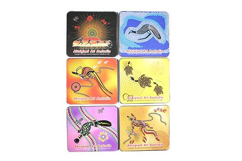 Australian Souvenir Coaster set Australia aboriginal indigenous art Aussie gift