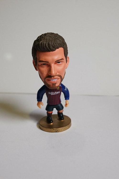 Pique FC Barcelona Soccer Player Figurine