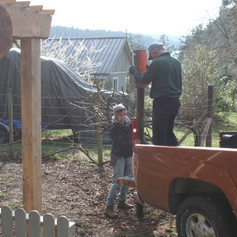 Ron helping us with fence repair