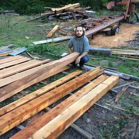 After two partially rotten logs, we got our wood