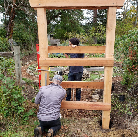 Ron helped put together and install the gate