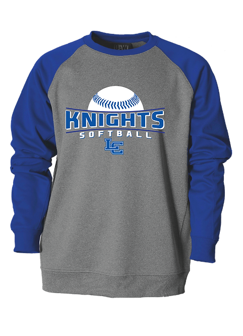 LC Softball Performance Crew Neck - Gray/Royal