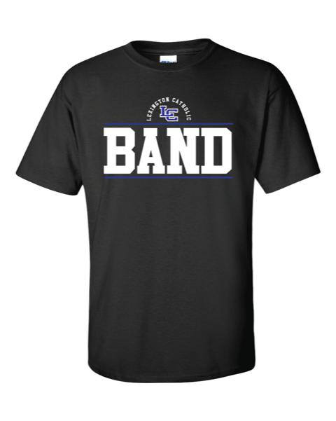 LC Band Short Sleeve Cotton Tee-Black