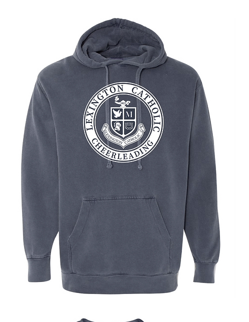 ComfortWash CHEER Hooded Sweatshirt-Denim