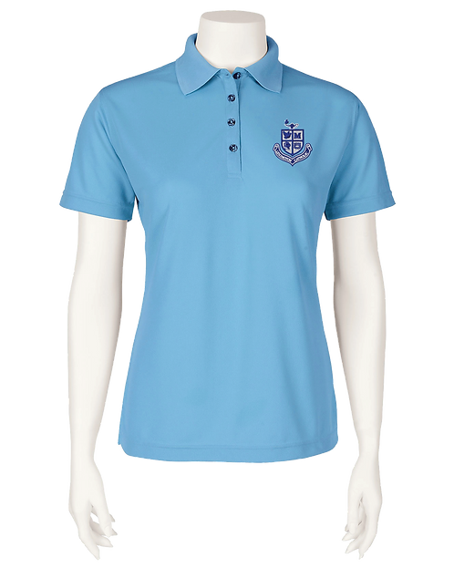 Ladies Performance Polo - Light Blue