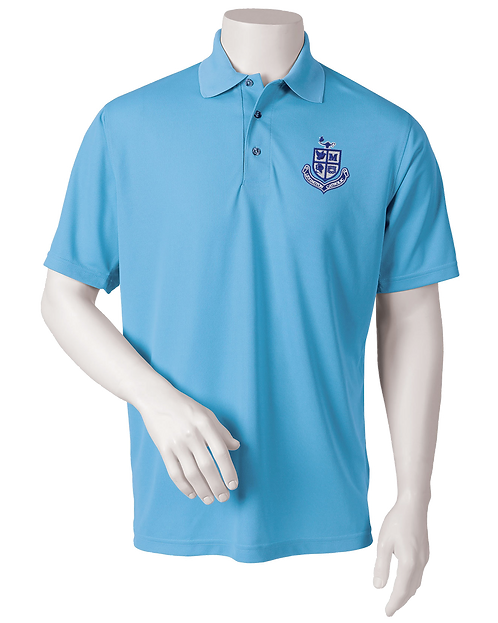 Mens Performance Polo - Light Blue