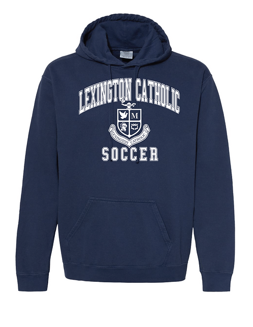 Comfort Color Soccer Hooded Sweatshirt