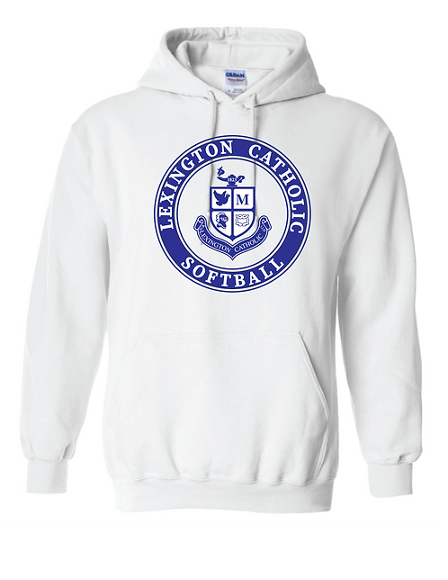 Softball Hoodie - White   Classroom Approved!