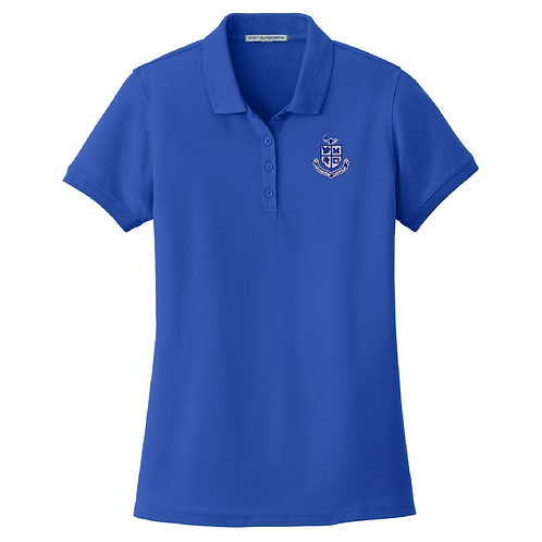 Ladies Pique Polo - Royal