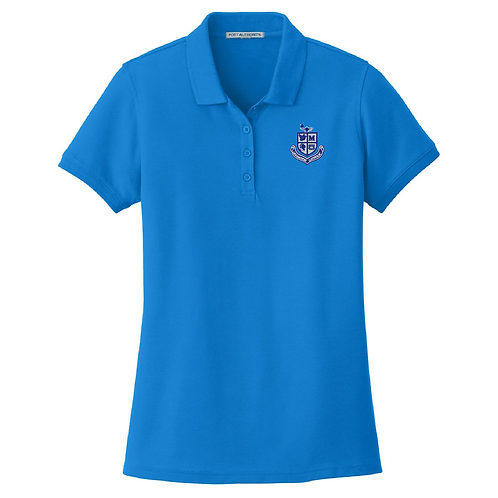 Ladies Pique Polo - Coastal Blue