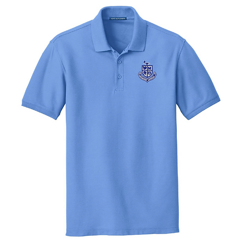 Unisex Pique Polo - Carolina Blue
