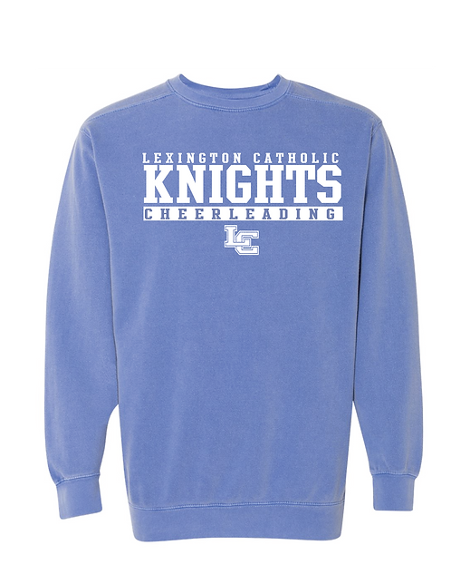 ComfortWash Throwback  Crewneck Sweatshirt-Blue