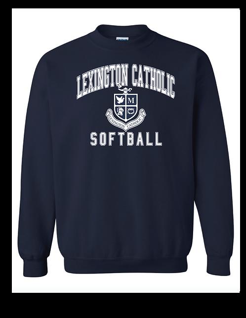 LC Softball  Crew Neck Crest- Navy