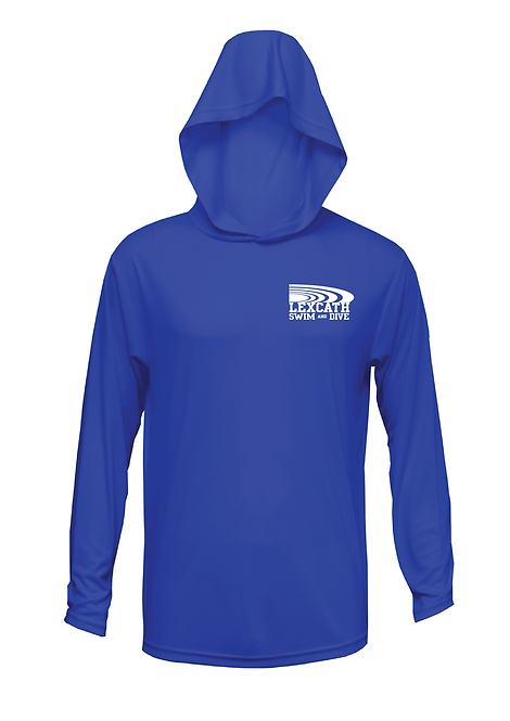 Xtreme-Tek unisex SWIM & DIVE  Performance Long Sleeve Hooded Cover-up