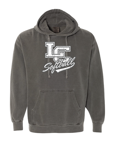 Softball Comfort Colors Hoodie - Pepper.Classroom Approved!