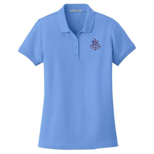 Ladies Pique Polo - Carolina Blue