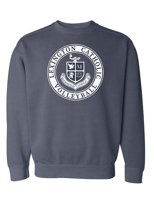 Comfort Color Volleyball  Crewneck Sweatshirt-Denim