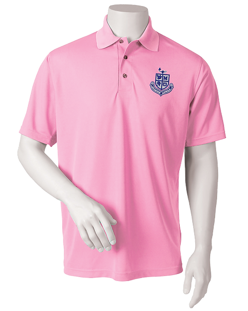 Mens Performance Polo - Pink