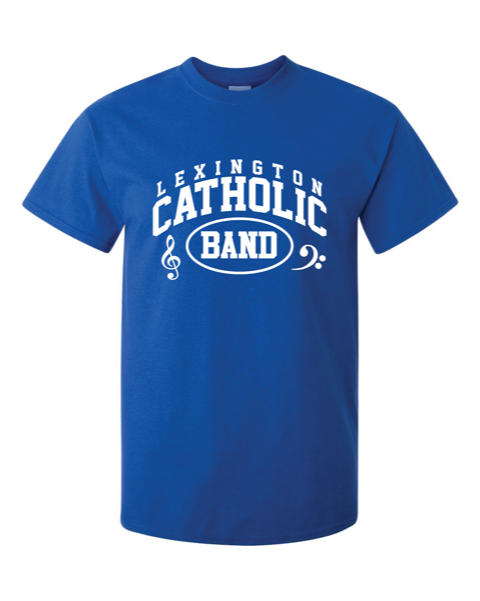 LC Band Short Sleeve Cotton Tee-Royal