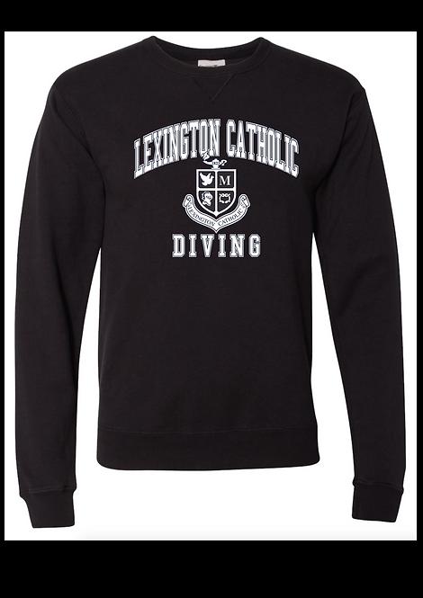 ComfortWash DIVING Arch Crewneck  Sweatshirt-BLACK