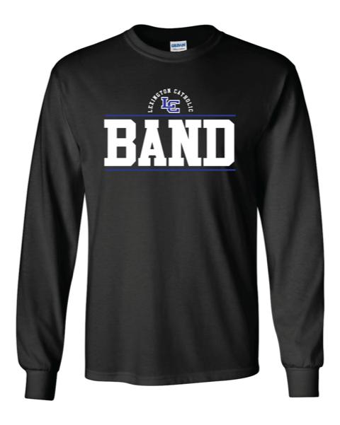 LC Band Long Sleeve Cotton Tee-Black