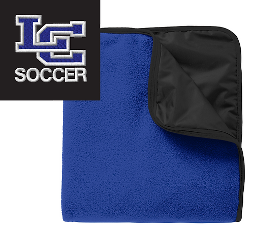 Knights Soccer Fleece & Poly Stadium Blanket-Royal