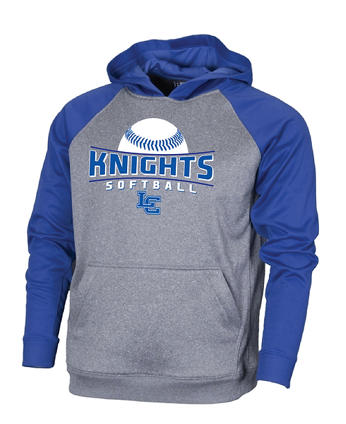 Softball Performance Hoodie - Gray/Royal