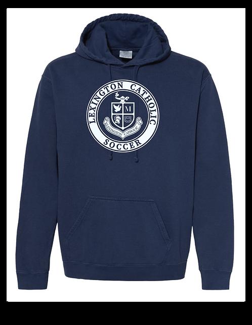 Comfort Color Soccer Hooded Sweatshirt