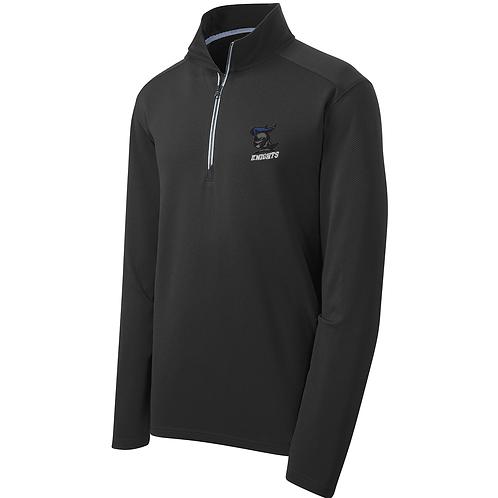 Textured Lightweight 1/4 Zip - Black
