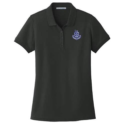 Ladies Pique Polo - Black