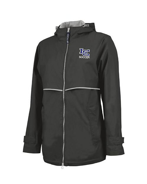 Soccer-Raincoat - Charles River Ladies Full Zip
