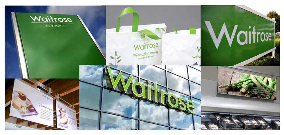 N | Waitrose signage