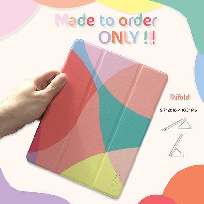 "Origami/Trifold Rainbow For iPad 9.7"" 2018"