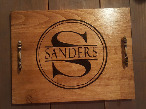 Wood Tray - Personalized