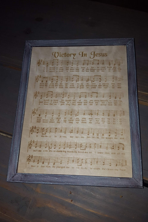 Hymns Engraved On Wood