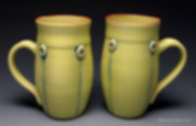 yellow mug set