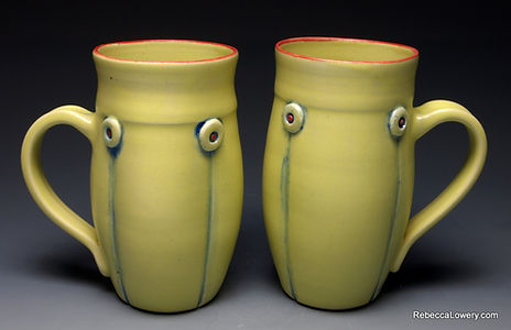 yellow mug set