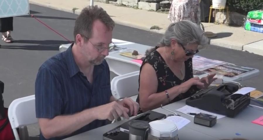 Writers guild typewriting
