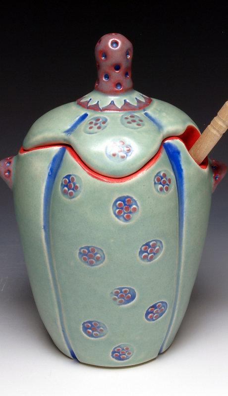 Green Flower honey pot 1.jpg