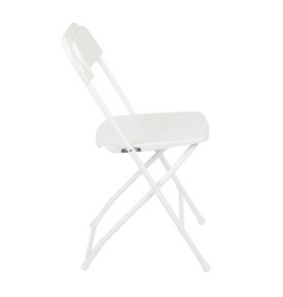 Classy White Plastic Chair from Jump CSRA Party Rental
